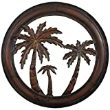 Decorative 16 ' Metal Palm Tree Wall Plaque