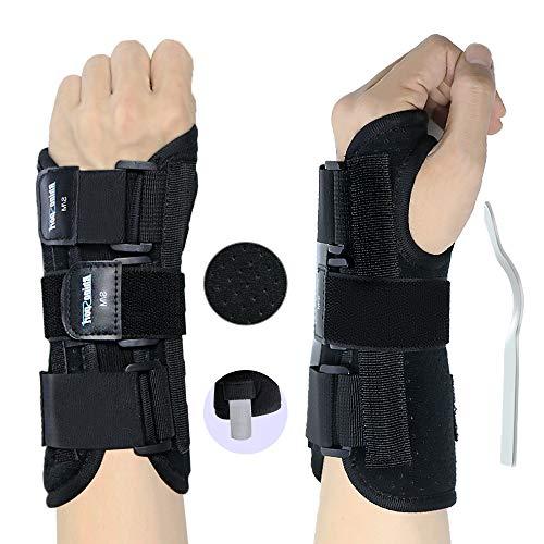 RHINOSPORT Handgelenkbandage Handgelenkstütze Handgelenkschiene, Schutzfunktion Schmerzlinderung und die Stabilität unterstützen, behilflich für Männer und Frauen (Linke, S/M)