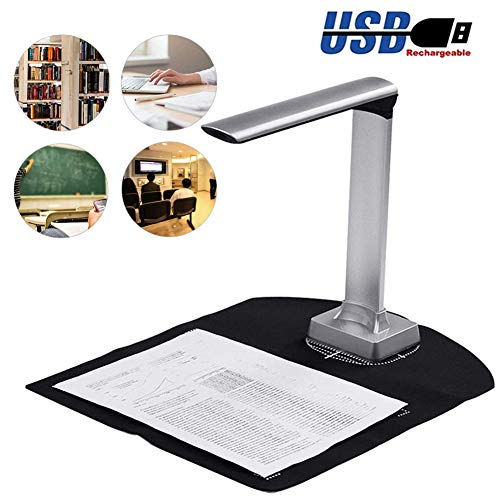 Great Deal! POEO High Definition Portable Scanner, 15 MP HD Smart Document Camera with Auto-Focus an...