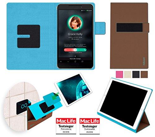 reboon Hülle für Asus FonePad 7 FE375CG Tasche Cover Hülle Bumper | in Braun | Testsieger