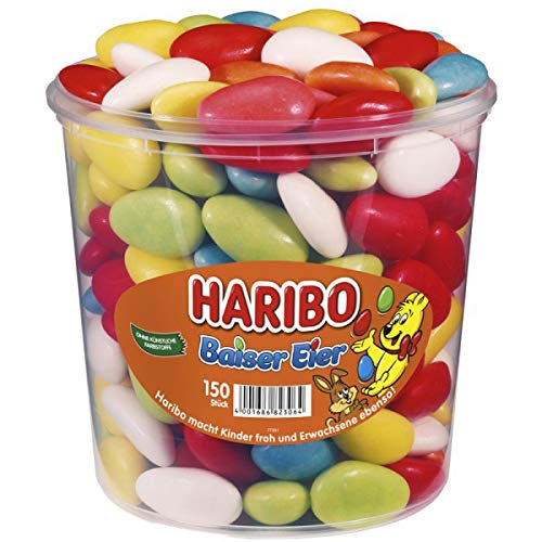 Haribo - Baiser-Eier Schaumzucker Drageees - 150St/1,05kg