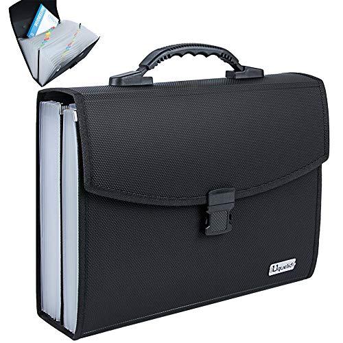 Uquelic Upgrated Datei Organizer A4 Große Datei Ordner A4 Erweiterbare Datei Ordner Taschen A4 26 Taschen Fächermappe A4 Akkordeon Dateiordner A4 Tragbar Ordnungsmappe A4 mit Griff