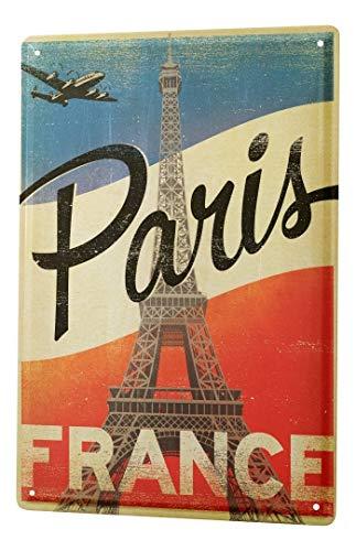 LEotiE SINCE 2004 Cartel Letrero de Chapa Deco Ciudad París Francia