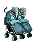 Cosatto Supa Dupa Double/Twin Stroller – Pushchair Suitable from Birth, Lightweight, Compact Fold