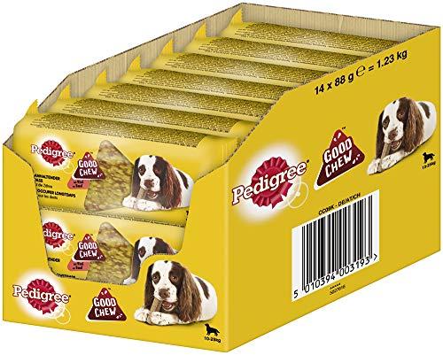 PEDIGREE Hundesnacks Good Chew Medium Kausnack für mittelgroße Hunde 10-25kg mit Rind, 14 Stück, 1232 g