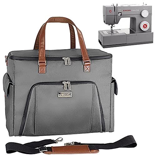 La Canilla - Maleta para Máquina de Coser Alfa, Singer, Brother (y más) Tote Bag para Manualidades, Almacenamiento y Accesorios de Costura con Funda Anti-Polvo