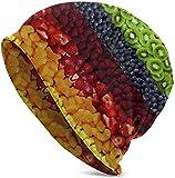 Qidsuf Rainbow Fruit Unisex Knit Beanie Sombrero de Invierno Gorra de Bicicleta Regalos