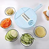 YESHUOYS per Alimentare Frutta Formaggio Verdura Grattugia Pelapatate - Tagliaverdure Tondo Multifunzionale da Cucina da 12 Pezzi con pialla a Mano