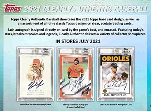 2021 Topps Clearly Authentic Baseball Hobby Box: 1 Card