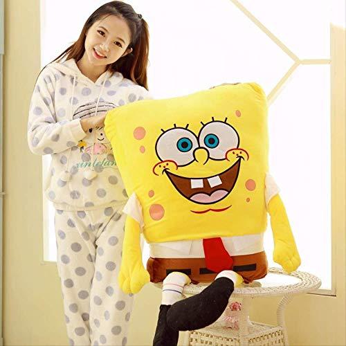 qwerwj Plüsch-Spielzeug Spongebob Kinder Geschenke Pp-Baumwolle Cartoon-Anime Kissen Kurze Plüsch 100 cm