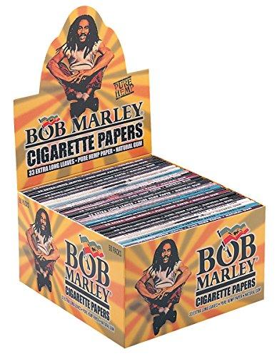 Bob Marley King Size - Papel de cáñamo Extra Largo (3 Cajas con 150 Cuadernos)