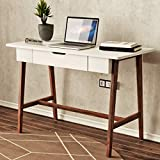 Decornation Zane Wooden Study Table Desk, Reading Table, Writing Desk for Home and Office Made of MDF Solid Wood (White)
