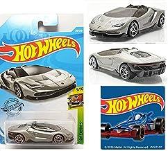 Hot Wheels 2019 HW Exotics '16 Lamborghini Centenario Roadster 213/250 with one HW Sticker Bundle (2 Items)