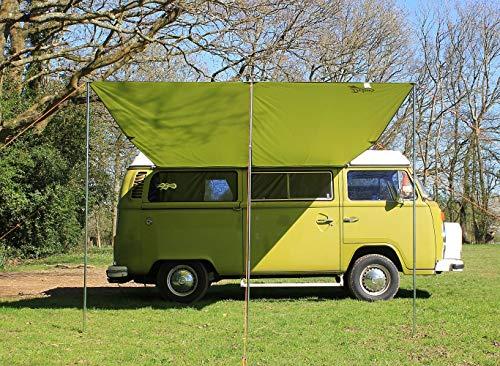 Debus Campervan Sonnendach Vorzelt + T2 T25 Verbindungsset – Waldgrün