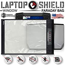 Mission Darkness Window Faraday Bag for Laptops // Device Shielding for Law Enforcement, Military, Executive Privacy, EMP Protection, Travel & Data Security, Anti-hacking & Anti-tracking Assurance