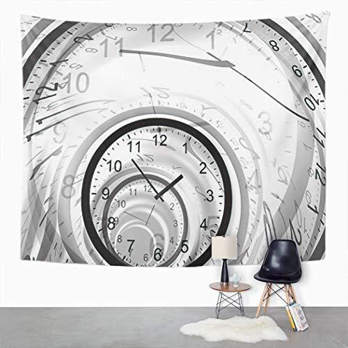 Y·JIANG Tapiz Timeless Time Tunnel Wrong Chaos Surreal Reloj Espejo Lifetime Fly Home Dormitorio Decorativo Tapices Grandes Pared Ancho Manta Colgante para Sala Dormitorio 152.4 x 127.0 cm