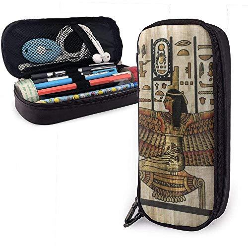 Alte ägyptische große Kapazität Lagerung Marker Fall Stifthalter, kosmetische Make-up Tasche, Briefpapier Veranstalter Bleistiftbeutel
