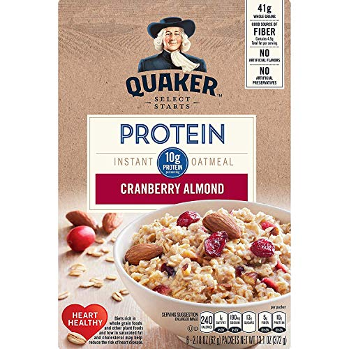 Quaker Instant Oatmeal Cranberry Almond 218 Oz 6 Ct