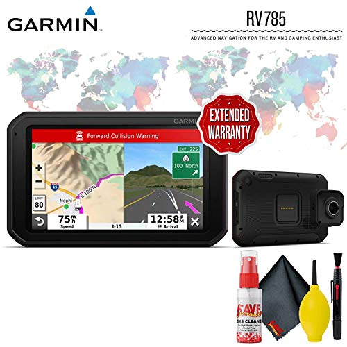 Learn More About Garmin RV 785 & Traffic, Advanced GPS Navigator for RVs with Built-in Dash Cam, 7″ Touch Display and Voice-Activated Navigation Protective Accessory Kit