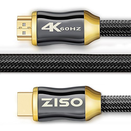 4K High Speed HDMI Cable 6 Feet-HDMI 2.0 Ready (4K 60Hz)- HDCP 2.2,Gold Plated Connectors- -...
