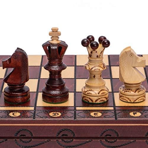 Husaria European International Chess Game Set, 21.7 Inches, Ambassador