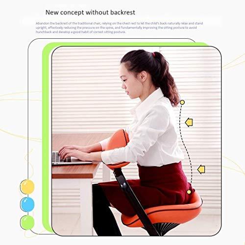 LWW Stühle, Schreibtischstuhl Bürostuhl Lernstuhl Knienstühle Ergonomische Stuhl Sitzende Haltung Korrektur,Grün