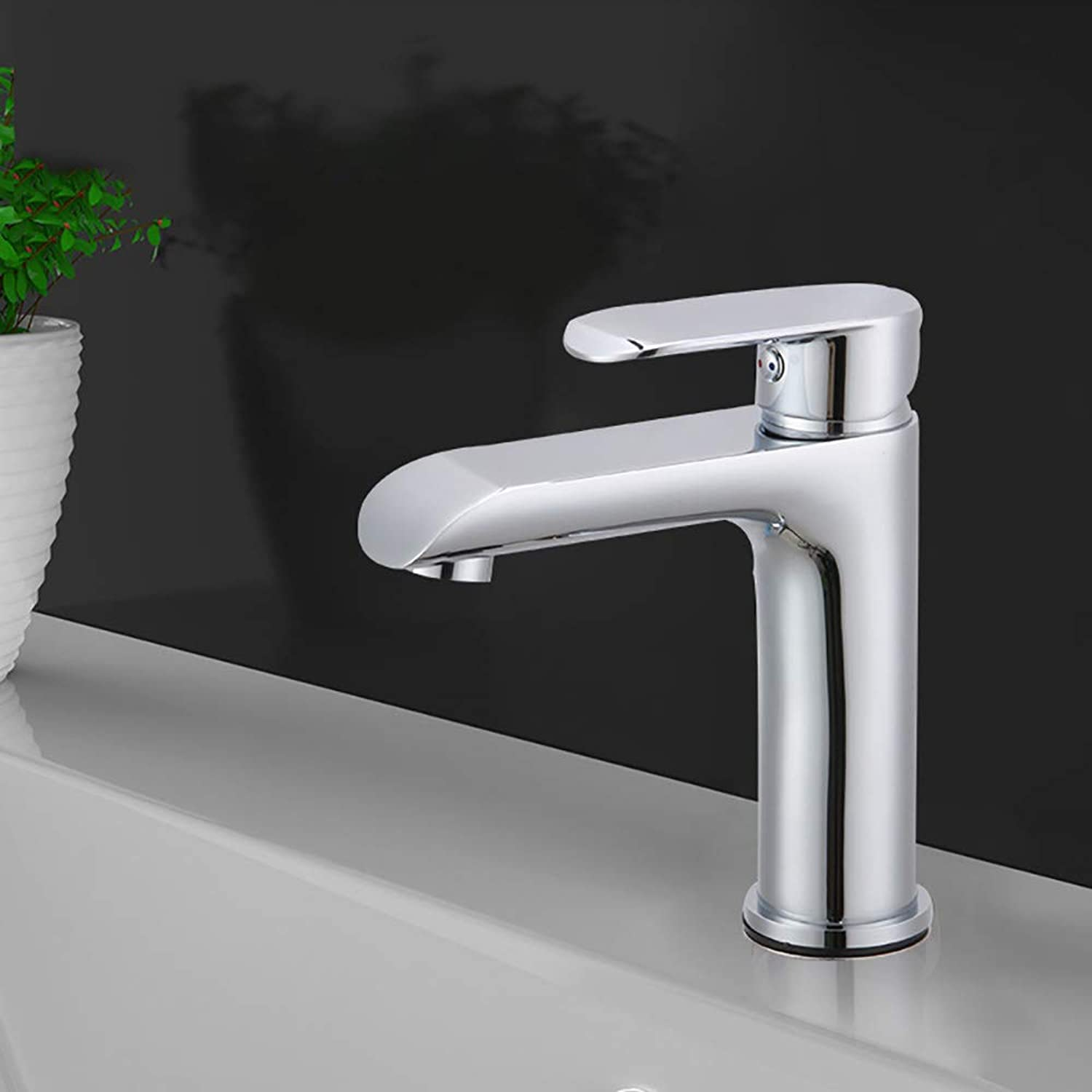 HUIJIN1 Single-Handle Bathroom Sink Faucet,Modern Waterfall Chrome Brass Hot And Cold Water Hose Deck Mount Widespread Bathroom Bar Vanity Sink Faucet
