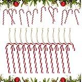 Canne de Bonbons Plastique de Noël, Candy Cane à Suspendre de Décorations, Canne en Bonbon, Canne en Plastique, Décorations de Sapin Tiges de Noël, Bonbons Béquilles Sapin De Noël (B)