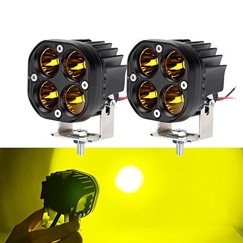 HAIHAOYF Luz de Trabajo LED Amarilla de 40W, lámpara de conducción Impermeable Cuadrada de 12V 24V, lámpara de Niebla de Carretera para camioneta (Color : One Pair)