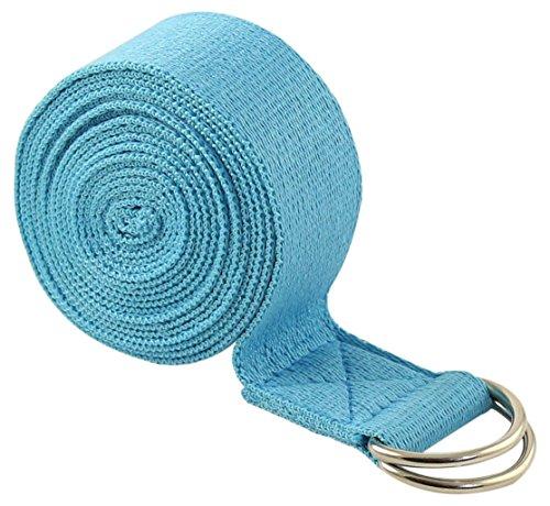 FIT SPIRIT 6ft Fitness Exercise Yoga Strap - Blue