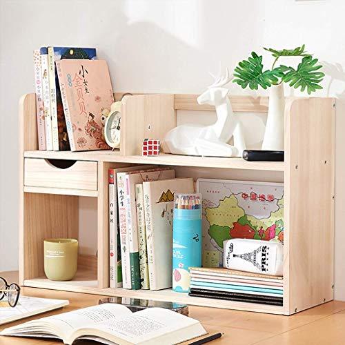HUAHUA Estante de Escritorio pequeño estante ajustable con 1 cajones, escritorio organizador del almacenaje de la exhibición del estante del estante de material de oficina, estudio, dormitorio Cosméti
