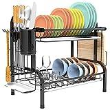 Shop Again 2 Tier Dish Rack Double Decker...