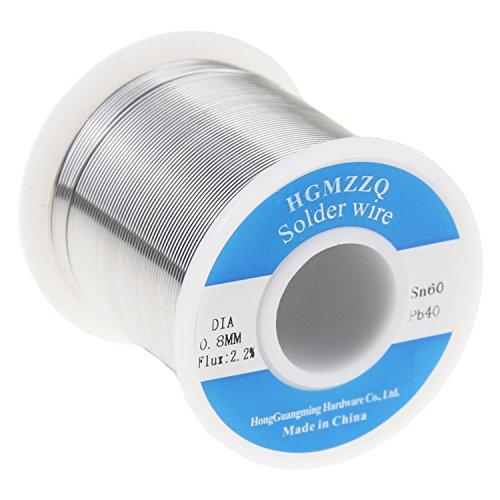 HGMZZQ 60/40 Tin Lead Solder Wire with Rosin for Electrical Soldering 0.023inch (0.6mm-1lb)