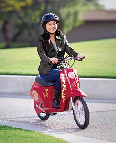 Razor Pocket Mod Bellezza - 36V Euro-Style Electric Scooter for Ages 14 and Up, Up to 70 min Ride Time, 16' Air-Filled Tires