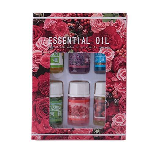 Essentiels d'huile essentielle, huile essentielle hydrosoluble soluble dans l'eau de 6Pcs 3ML Aromatherapy parfumant soulager la fatigue(02#)
