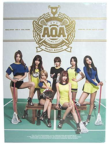 AOA Heart Attack Photobook+CD 3rd Mini Album Kpop Collection Seol-Hyun Cho-A Hye-Jeong Chan-Mi You-Kyung Min-A Ji-Min Yu-Na