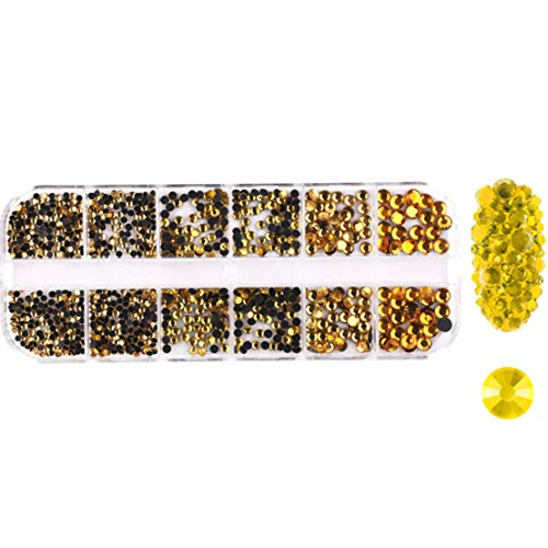 Arret Middleton Likable Lot de 12 strass transparents 3D pour ongles