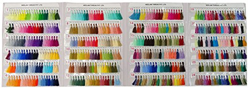 Telephone Threads Azo Free Viscose Rayon Embroidery Thread Shade Card - 480 Color Chart