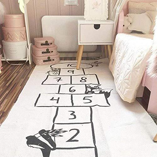 Spielteppich Kinderteppich Spielzeug Teppich Matte Kinderzimmer Babyteppich Mit Hüpfspiel Teppich für Jungen Mädchen Kinder Baby - 170x72cm