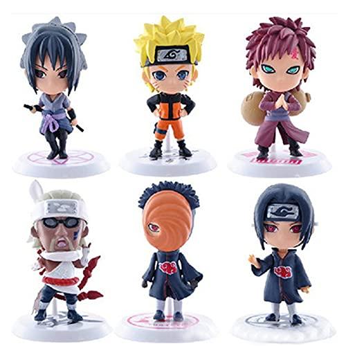 Decoraciones para Tartas Anime Figuras de Naruto Cumpleaños Figura Anime Decoración Tarta para Decoraciones de Fiesta para Niños