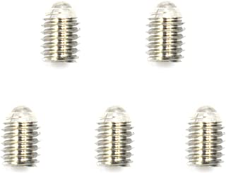 HONJIE M6x 8mm Stainless Steel Spring Hex Socket Ball Point Grub Set Screws Plunger-5pcs