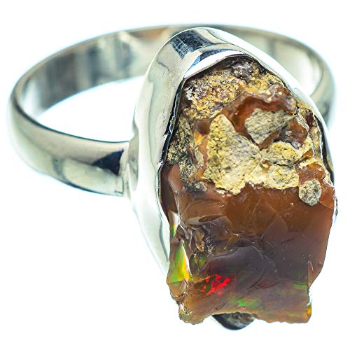 Ana Silver Co Rough Ethiopian Opal Ring Size T 1/2 (925 Sterling Silver)