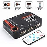 TESmart 5x1 HDMI Switch 5 entrées 1 Sortie, Commutateur HDMI Intelligent à 5 Ports,...