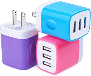 USB Wall Charger, Charging Block, Hootek 3Pack 3.1A Fast Charge 3-Muti Port USB Travel Wall Charger Base Brick Charging Cube Plug Charger Box Compatible iPhone X/8/7/6/6S Plus, iPad, Samsung, LG, HTC