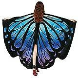 Xmiral Moda Chal de Alas de Mariposa Duendecillo para Mujer Chicas Capa de Muchacha Accesorio para Disfraz Playa Fiesta