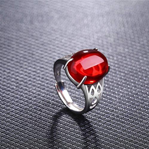 Open Ring Retro Enkele Ring Synthetische Edelsteen Ring Mode Wilde Sieraden Geschikt Voor Cadeaus Voor Vrouw Twee Kleuren Optioneel,Red