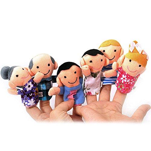 XZANTE Juego 6 Marionetas Dedo - Familiares Incluyen