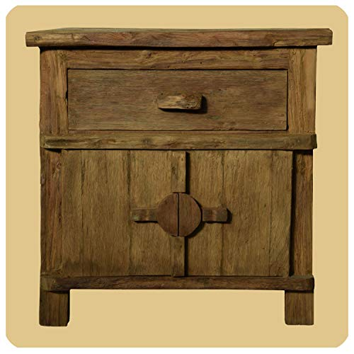 Massivholz Kommode Shabby chic Vintage Teak Holz Möbel Unikat Handarbeit Antik 3
