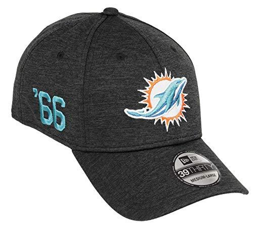 New Era Miami Dolphins 39thirty Stretch Cap Shadow Tech Black - L-XL