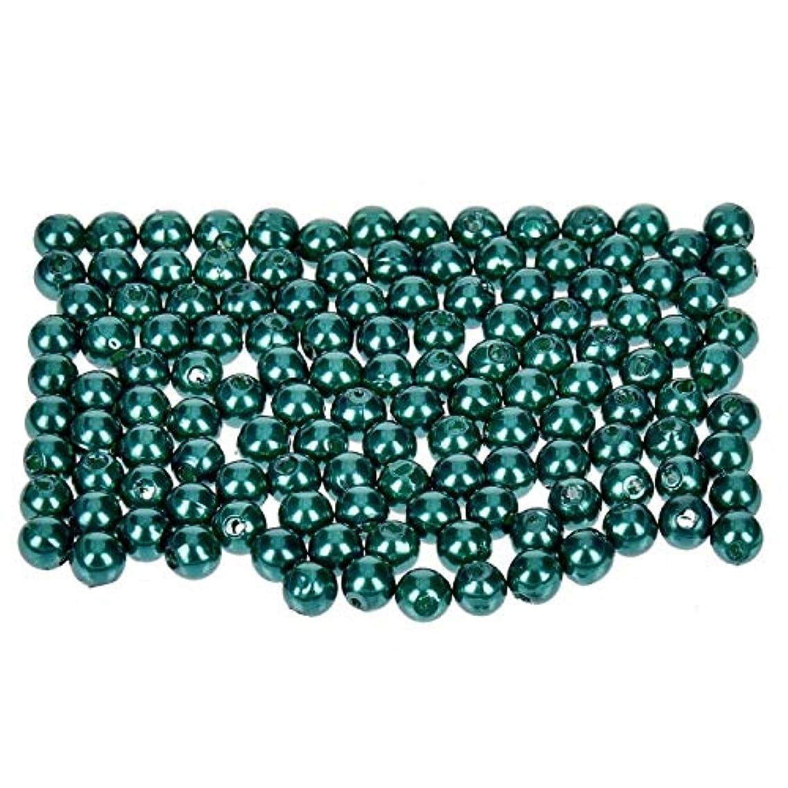 Efco Wax Beads, Plastic, Green, 4 mm Diameter, 125-Piece
